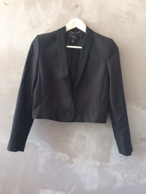 Mango Suit Blazer de esmoquin negro