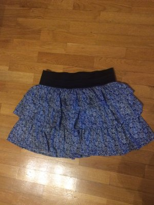 Kurzer Sommerrock blau weiß schwarz