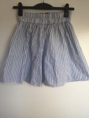 Zara Flared Skirt baby blue-white