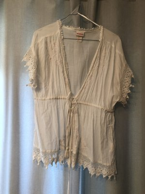 H&M Conscious Collection Kimono Blouse white