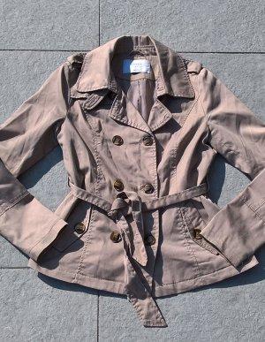 Kurzer Trenchcoat Jacke beige ONLY Gr. M