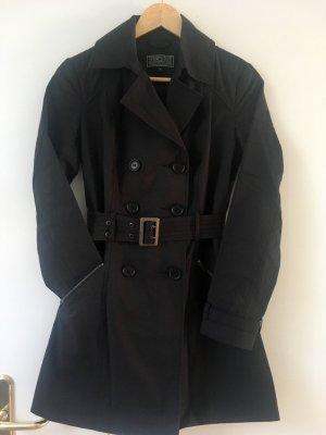 Kurzer Trenchcoat schwarz, Gr. 36/38