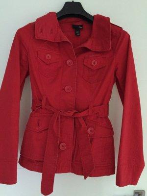 Kurzer Trenchcoat von H&M rot gebraucht Größe 34