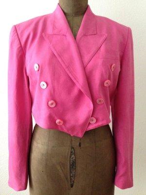 Kurzer Vintage Blazer aus reiner Seide von Escada, Gr. 38, passt auch Gr. 40