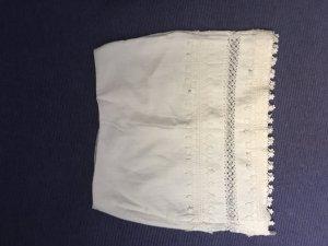 kurzer, weißer Leinenrock von H&M Gr. 36