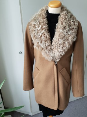Closed Cappotto corto color cammello Lana
