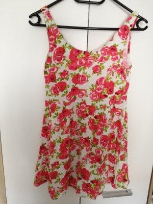Kurzes A-Linien Kleid mit Blumenmuster