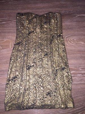 Kurzes Abendkleid - Gold/schwarz