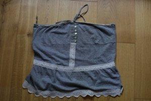 Kurzes Bandeau Crop Top mit Spitze von Zara