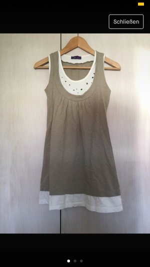 AJC Sweat Dress white-beige