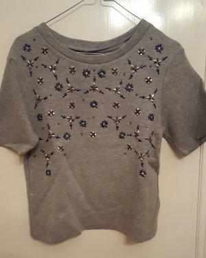 kurzes besticktes T-shirt