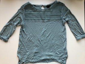 Kurzes, blau-grünes T-Shirt von H&M