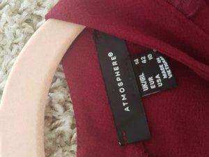 kurzes Bordeaux kleid mit schönen details