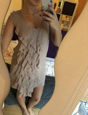 H&M Vestido con flecos beige