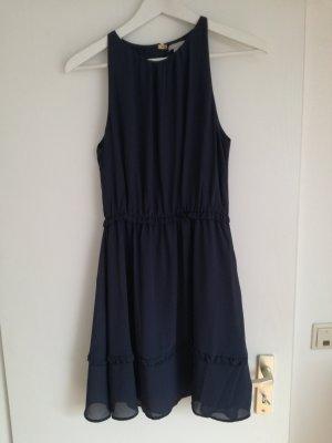 H&M Vestido de chifón azul oscuro
