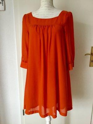H&M Robe chiffon orange foncé polyester
