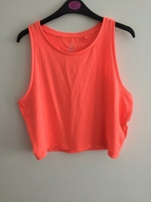 Kurzes Crop top neon orange