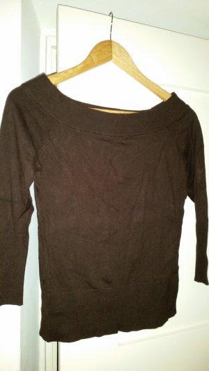 Sweater met korte mouwen cognac-bruin