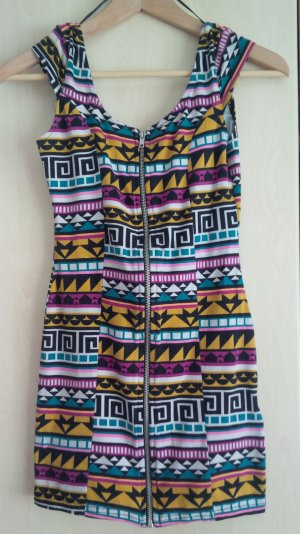 kurzes enges Kleid H&M Divided bunt gemustert