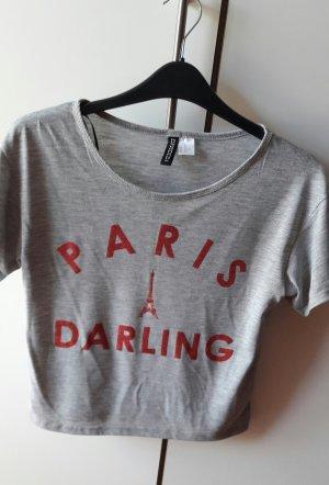 kurzes (fast bauchfreies) T-Shirt von H&M