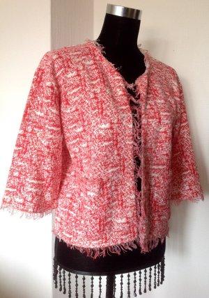 Zara Tricots blanc-rouge coton