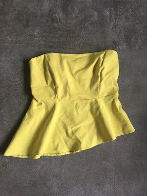 Kurzes gelbes Bandeautop von Zara