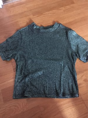 Kurzes Glitzer Shirt