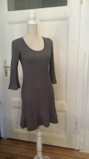 H&M Vestido de lana gris Viscosa
