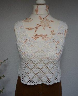 C&A Haut en crochet blanc cassé-blanc