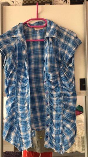 Kurzes Hemd blau-weiß