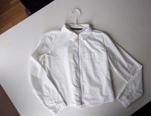Zara Camisa de manga larga blanco Algodón