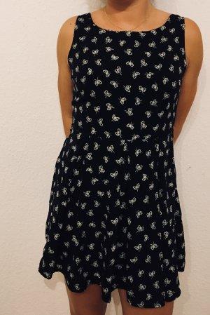 Kurzes High Waist Kleid mit Schleifenmuster