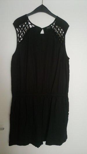 kurzes Hosenkleid schwarz Gr. 44
