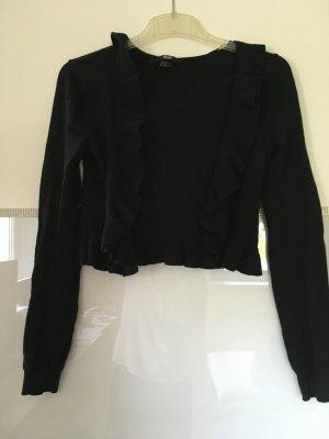 Kurzes Jäckchen mit Volants von H&M in schwarz Größe XS