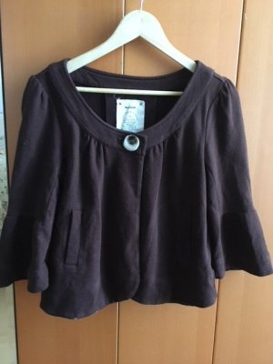 Anthropologie Giacca a blusa marrone scuro Cotone