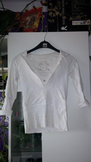 kurzes kapuzenshirt Weiß bauchtasche A&F