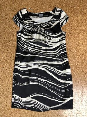 H&M Vestido de cóctel blanco-negro