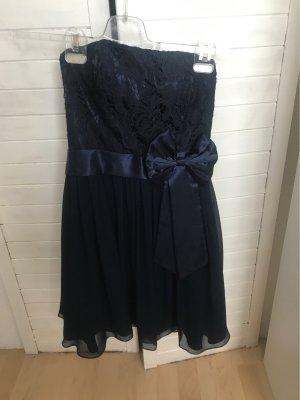 Laona Off the shoulder jurk donkerblauw