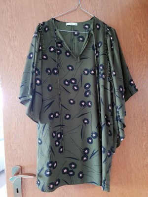 Mango Hippie Dress dark green