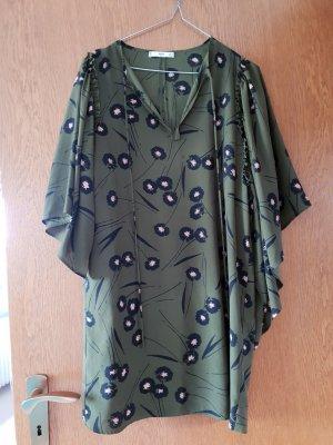 Mango Abito hippie verde scuro