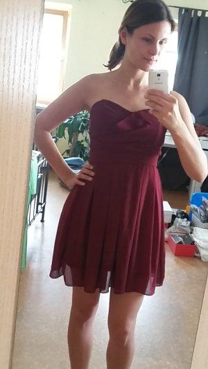Kurzes Kleid bordeaux / weinrot TFNC Größe 34/36