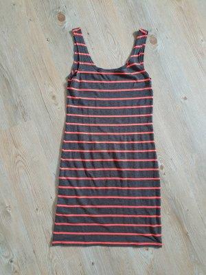 H&M Divided T-shirt jurk donkergrijs-zalm Katoen