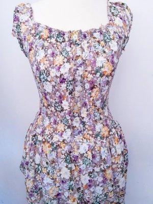 Kurzes Kleid geblümt Gr. XS S