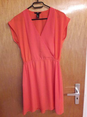 Kurzes Kleid in orange von H&M