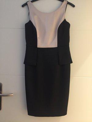 Kurzes Kleid in schwarz - creme