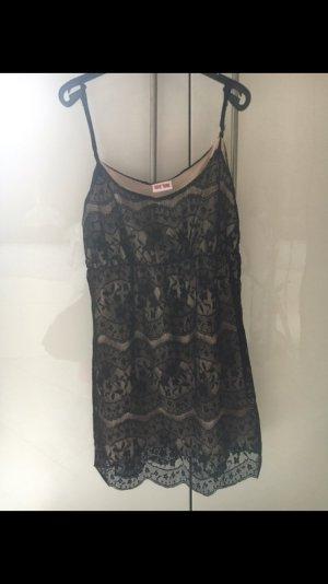 Kurzes Kleid in schwarz/nude