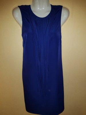 Kurzes Kleid in wunderschönem blau mit tollen Details von Zara mit Fransen