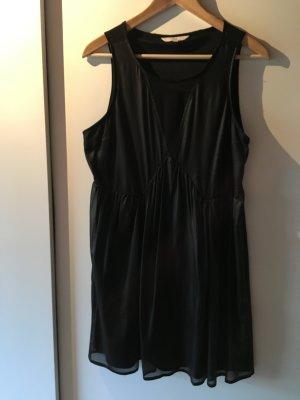 Clockhouse Leather Dress black mixture fibre