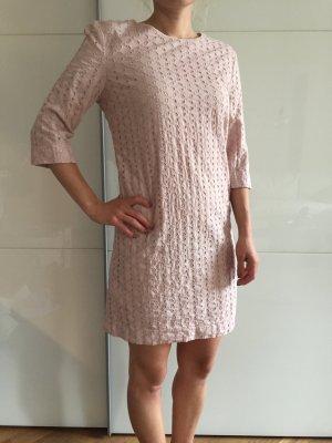 Kurzes Kleid Lochstickerei rosé / altrosa , Gr. XS