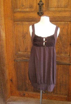 Kurzes Kleid /Longtop - Auberginefarben - Größe S - von Tandem